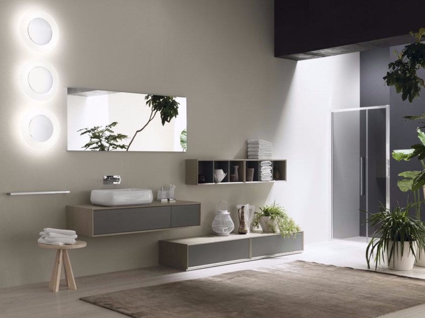 Laminate bathroom cabinet / vanity unit MAQ - Composition 3 by INDA®