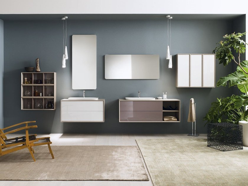 Laminate bathroom cabinet / vanity unit MAQ - Composition 4 by INDA®