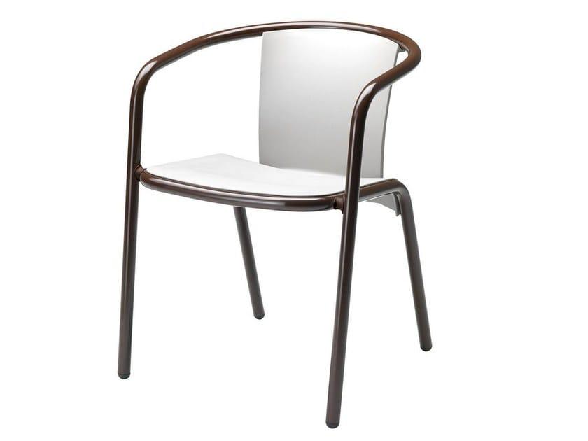 Stackable polypropylene chair with armrests Maré 539 - Metalmobil