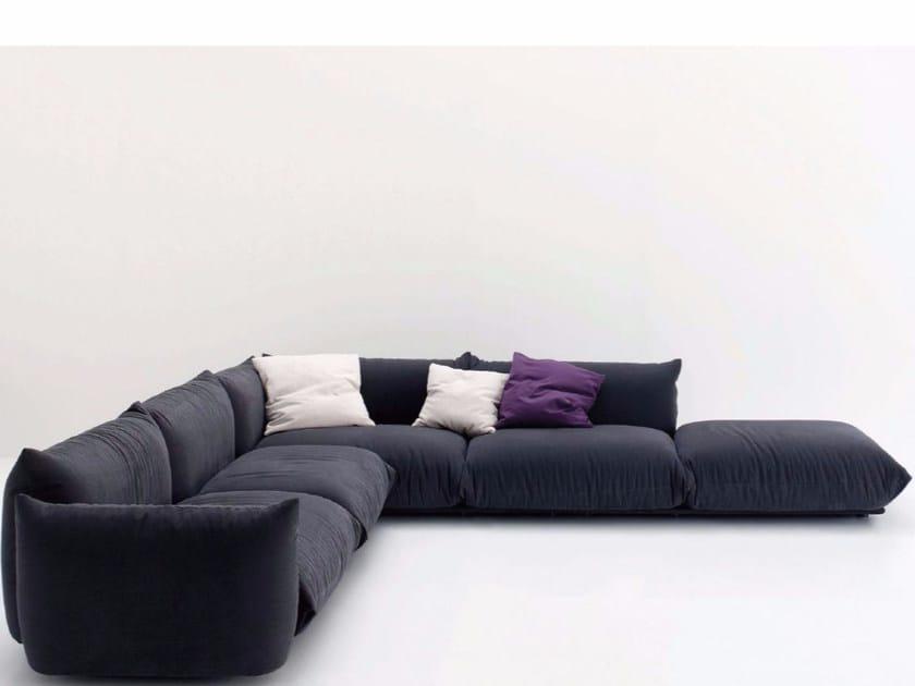 5 seater corner upholstered fabric sofa MARENCO | Corner sofa by arflex