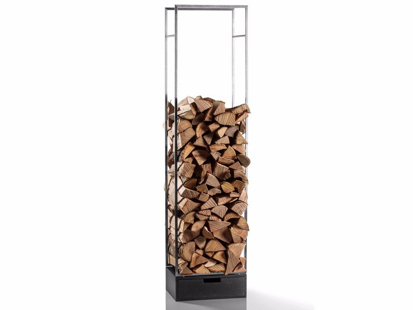Stainless steel Log holder MARGO - conmoto by Lions at Work