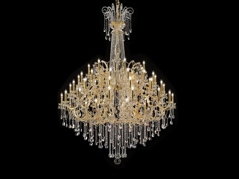 Direct light painted metal chandelier with crystals MARIA TERESA VE 911 by Masiero