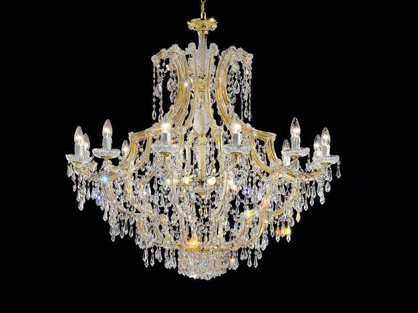 Direct light painted metal chandelier with crystals MARIA TERESA VE 912 by Masiero