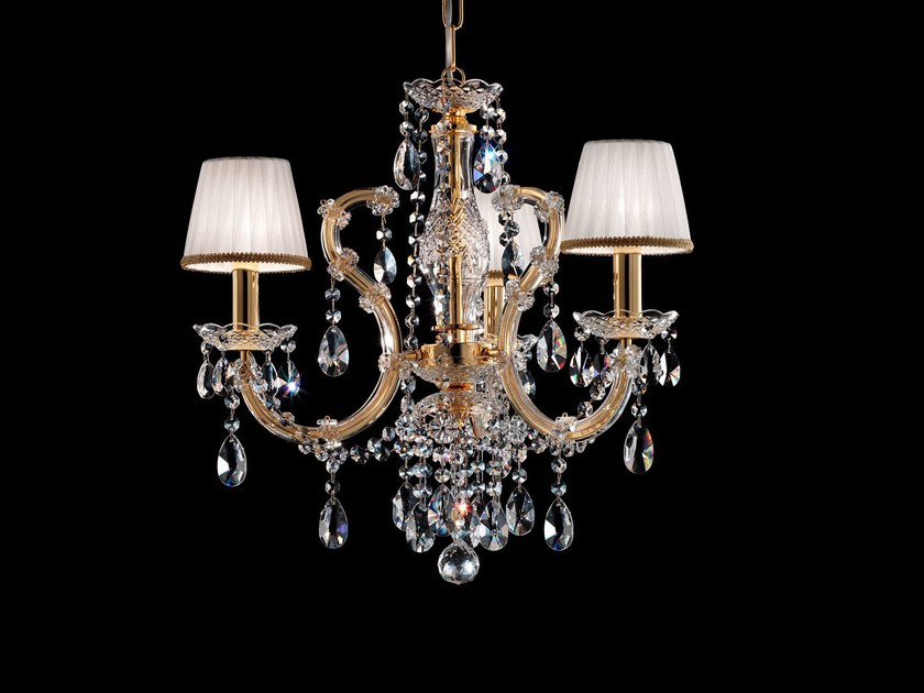 Direct light painted metal chandelier with crystals MARIA TERESA VE 937 by Masiero