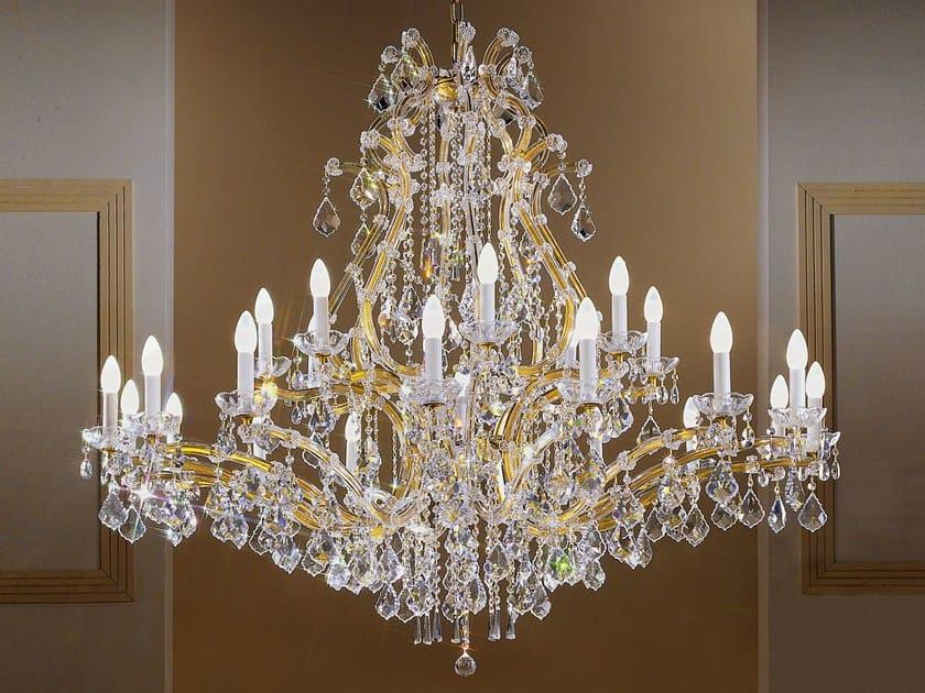 Lampadario a luce diretta in metallo verniciato con cristalli MARIA TERESA VE 952 by Masiero
