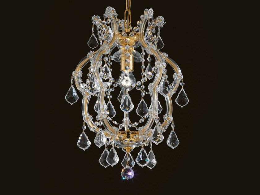 Direct light painted metal chandelier with crystals MARIA TERESA VE 954 by Masiero