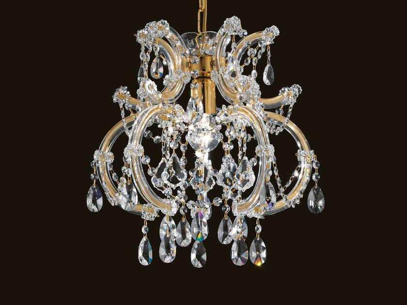 Direct light painted metal chandelier with crystals MARIA TERESA VE 956 by Masiero