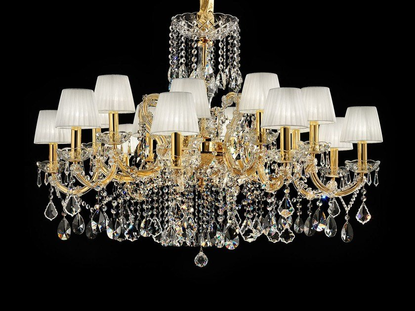 Direct light painted metal chandelier with crystals MARIA TERESA VE 975 by Masiero