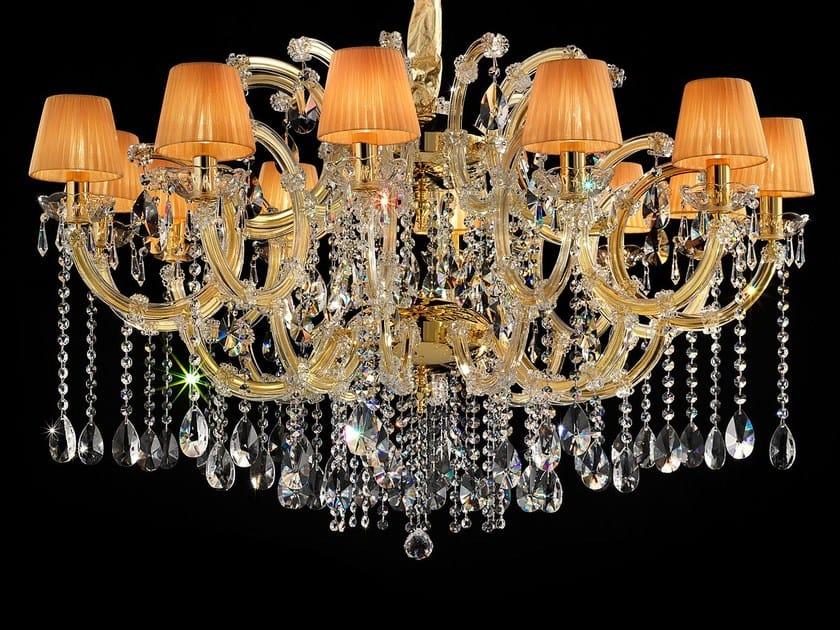 Lampadario a luce diretta in metallo verniciato con cristalli MARIA TERESA VE 981 by Masiero