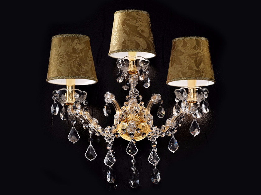 Direct light incandescent metal wall light with crystals MARIA TERESA VE 986 | Wall light - Masiero