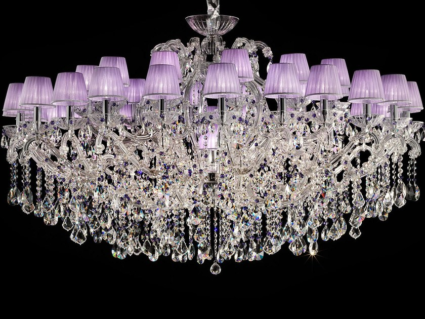 Direct light painted metal chandelier with crystals MARIA TERESA VE 996 by Masiero