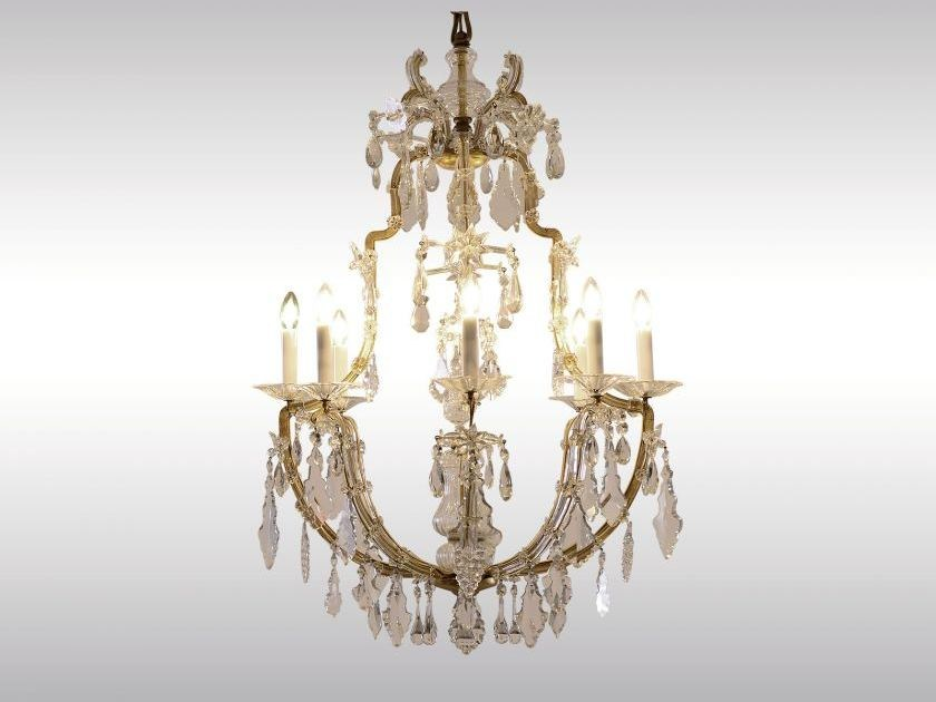 Classic style crystal chandelier MARIA THERESIEN LUSTER by Woka Lamps Vienna