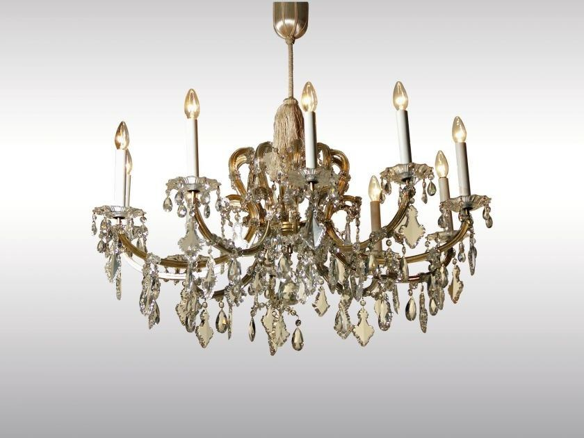 Classic style glass and iron chandelier MARIA-THERESIEN LUSTER - Woka Lamps Vienna
