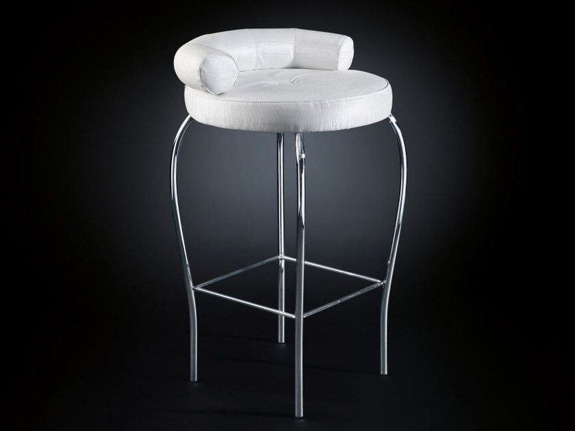 Fabric stool with footrest MARILEN | Stool by VGnewtrend