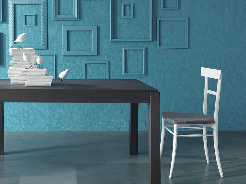 Lacquered open back chair MARILYN by Fimar