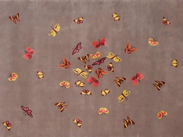 Handmade rectangular rug MARIPOSA by Deirdre Dyson