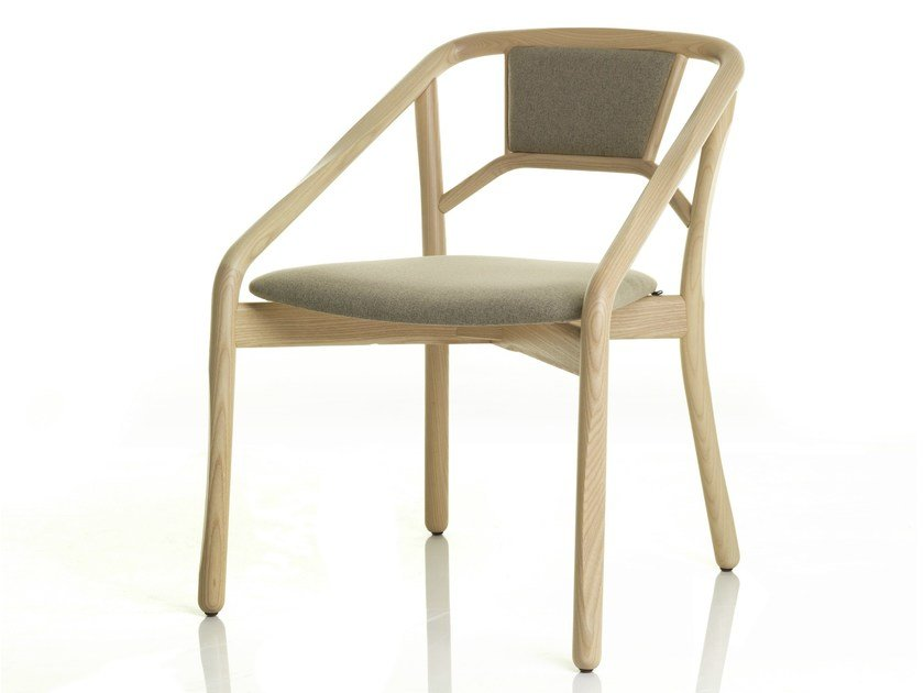 Upholstered chair with armrests MARNIE | Chair by ALMA DESIGN