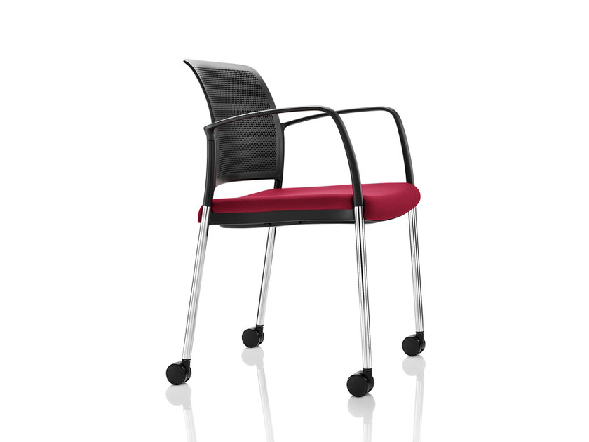 Chair with armrests with casters MARS | Chair with casters - Boss Design