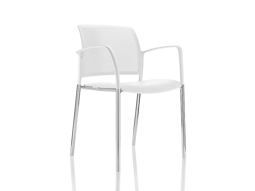 Polypropylene chair with armrests MARS LEISURE | Chair with armrests by Boss Design