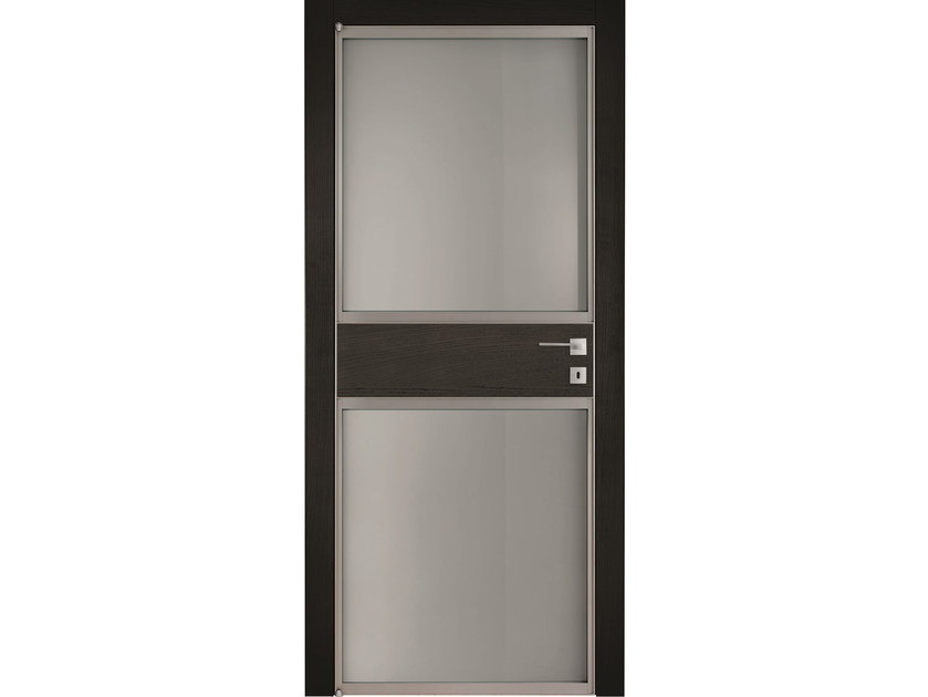 Hinged wood and glass door MASAI CENTRO 70 - BARAUSSE