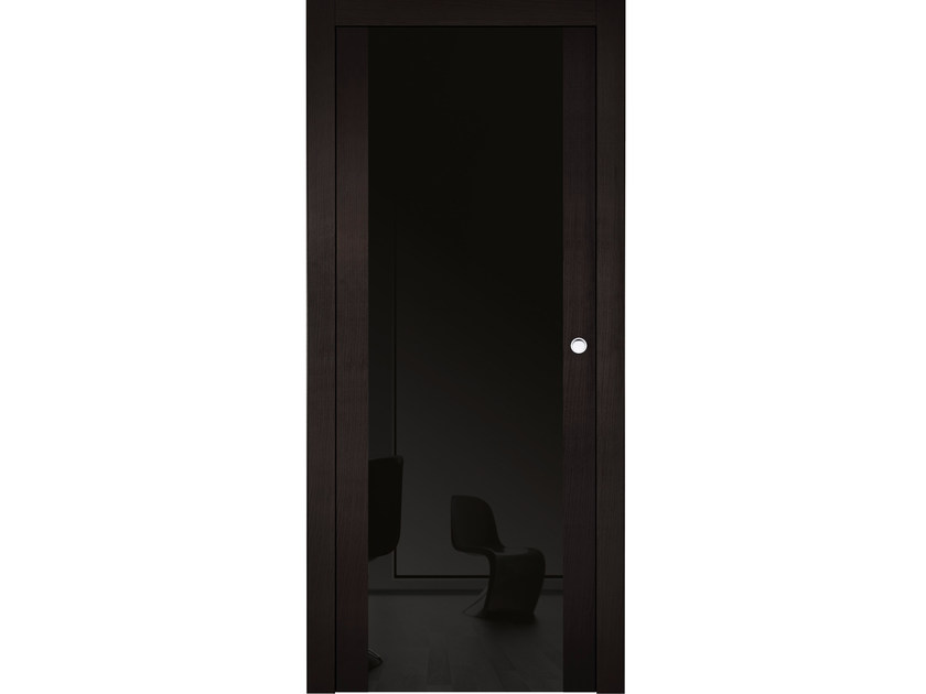 Lacquered wooden sliding door MASAI RIV SHINY SC - BARAUSSE