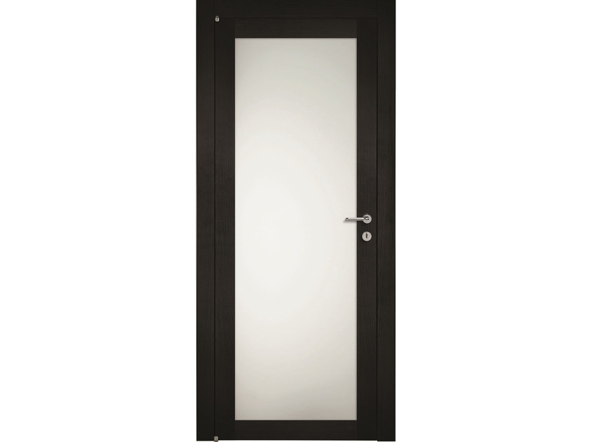 Hinged wood and glass door MASAI RVU - BARAUSSE