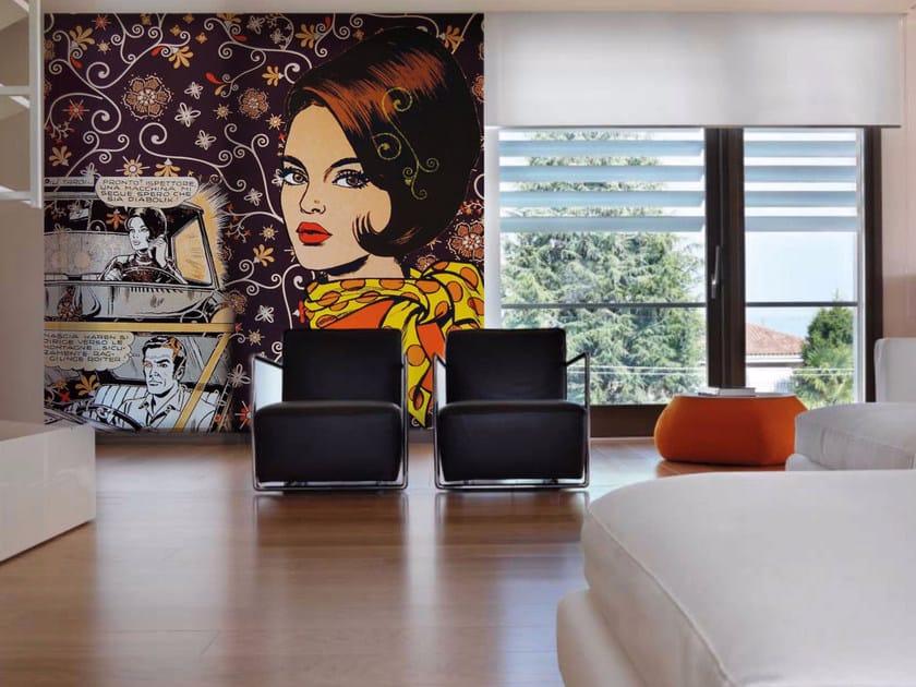 Pop art wallpaper MASCIA - Inkiostro Bianco