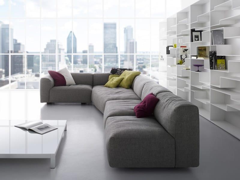 Corner sectional fabric sofa with removable cover MATE 2012   Corner sofa - MDF Italia