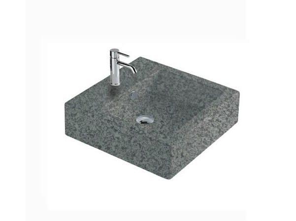 Square slate washbasin MATERIA 48   Slate washbasin - GALASSIA