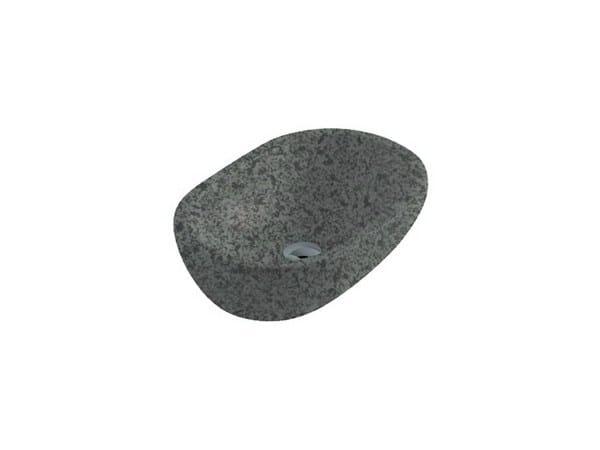 Countertop oval slate washbasin MATERIA 54   Slate washbasin by GALASSIA