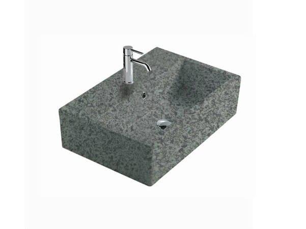 Rectangular slate washbasin MATERIA 60 | Slate washbasin by GALASSIA