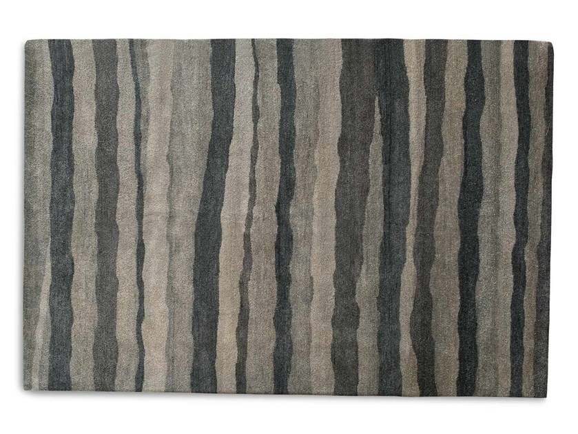 Rectangular striped wool rug MATERICO - Calligaris