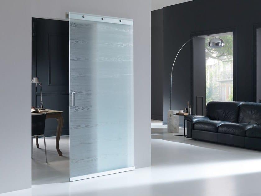 Porta scorrevole in vetro materik vetro bertolotto porte - Porte salvaspazio per interni ...