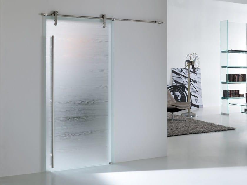 Porta scorrevole in vetro materik steel collezione materik for Porte scorrevoli in vetro prezzi