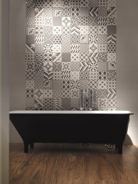 Rivestimento in gres porcellanato effetto cemento matherea by ceramica santagostino - Sant agostino piastrelle ...