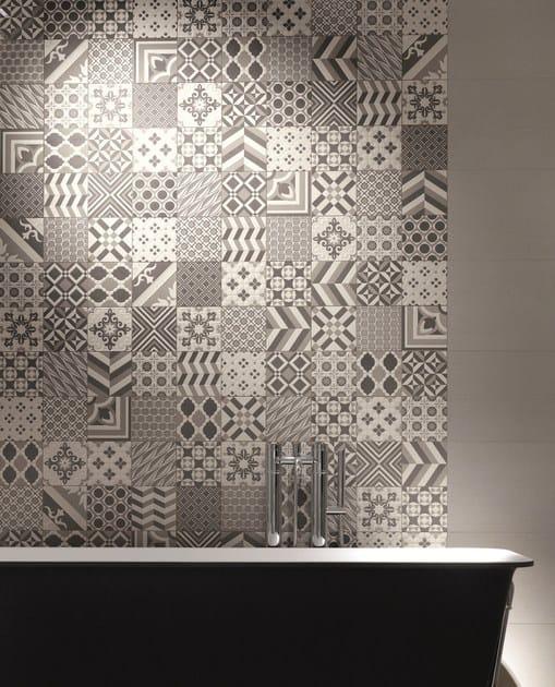 rivestimento in gres porcellanato effetto cemento matherea by ceramica santagostino. Black Bedroom Furniture Sets. Home Design Ideas