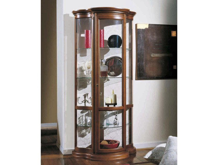 Solid wood display cabinet MATILDE - Arvestyle