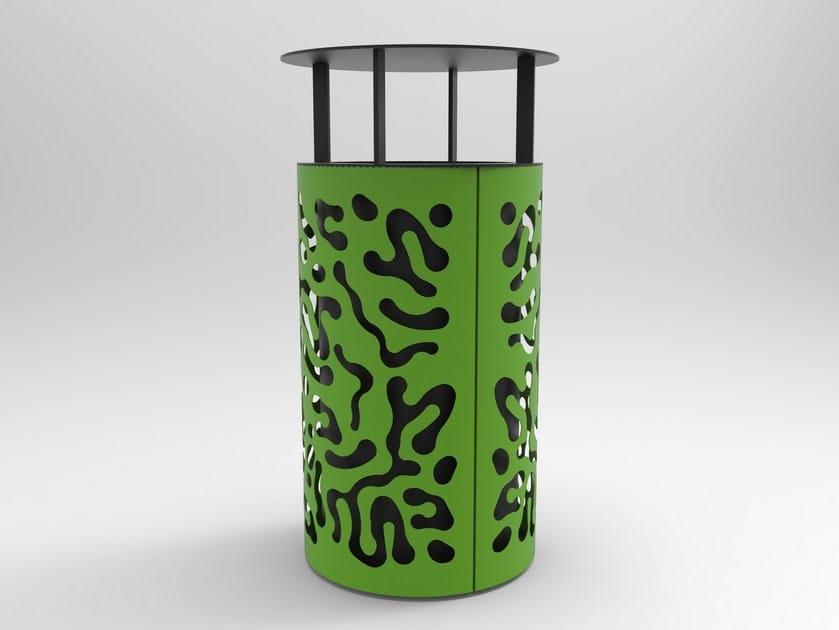 Galvanized steel waste bin with lid MATISSE by CITYSì