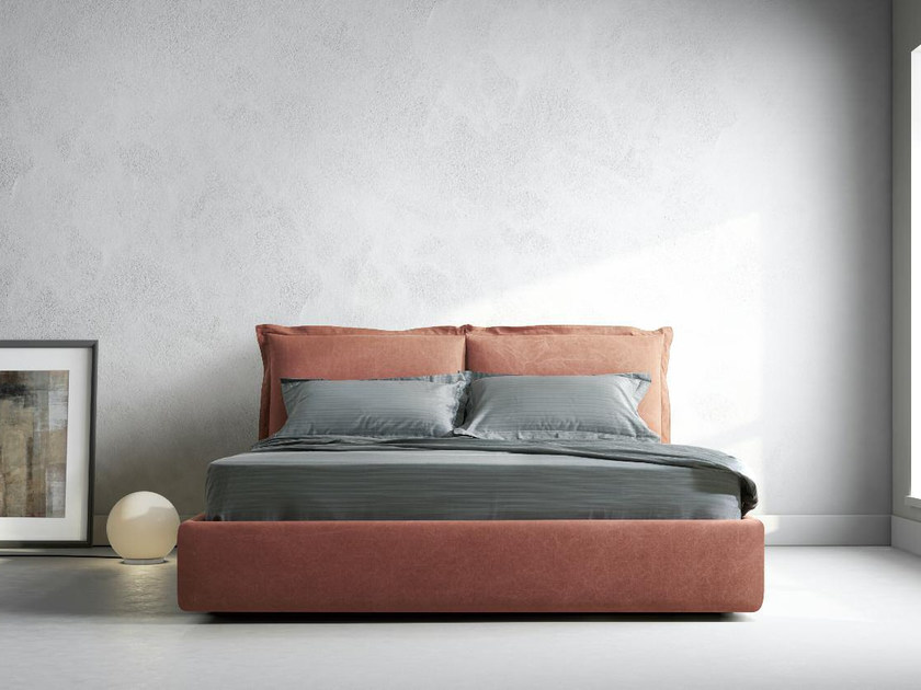 Upholstered fabric double bed MATISSE by Papadatos