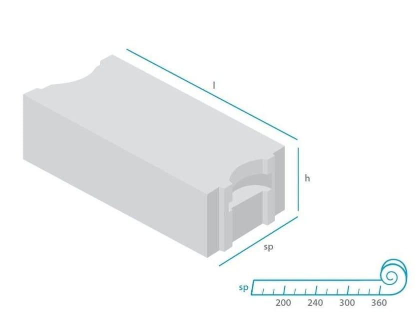 Blocco da tamponamento in calcestruzzo cellulare autoclavato mattONE® 325 - mattONE® by Doc Airconcrete