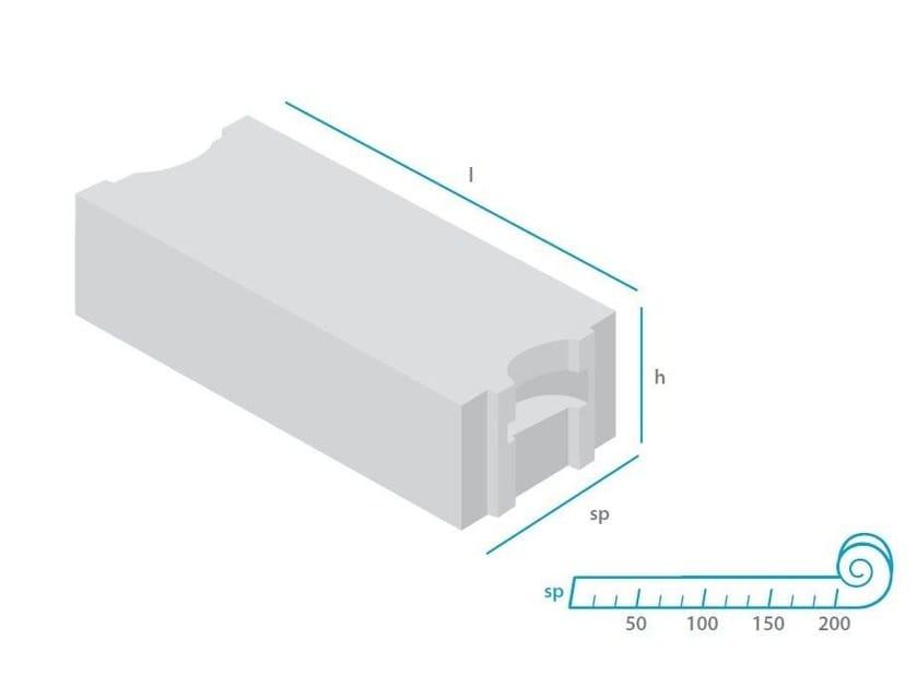 Lightweight concrete block for internal partition mattONE® 500 - mattONE® by Doc Airconcrete