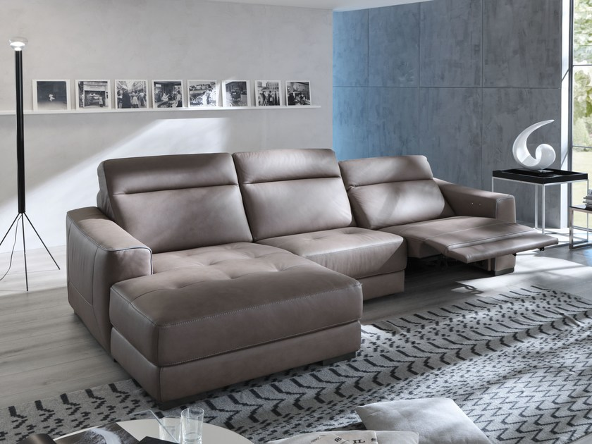 Relaxing sofa with chaise longue MAURINE | Sofa with chaise longue - Egoitaliano