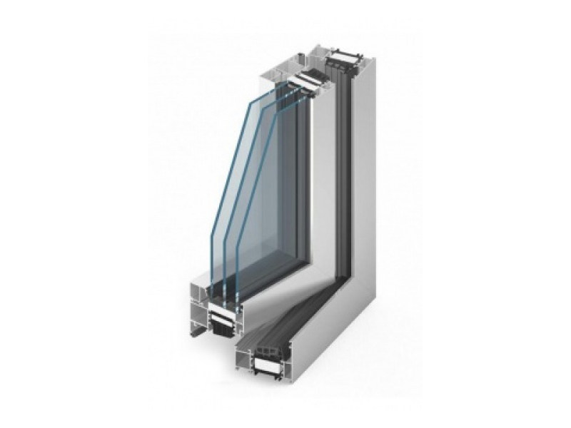 Aluminium triple glazed window MB-86 | Aluminium window by EKO-OKNA