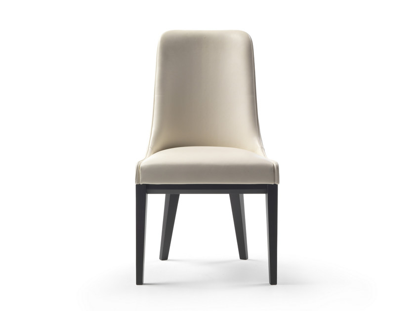 Upholstered leather chair ME | Upholstered chair - FLEXFORM