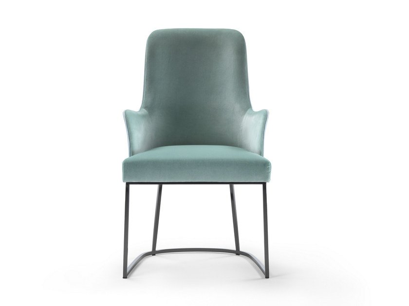 Upholstered chair with armrests ME | Chair with armrests - FLEXFORM
