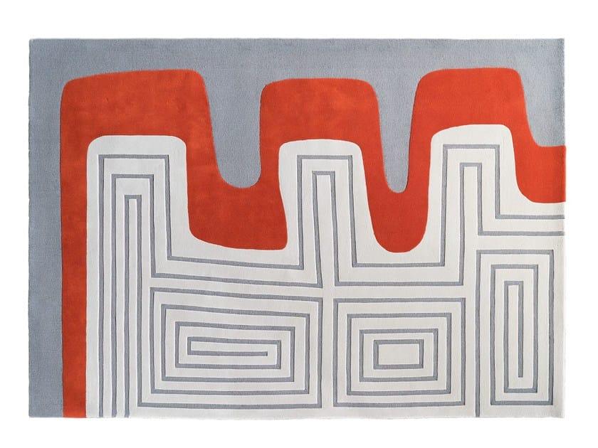 Patterned handmade wool rug MEANDER by Dare to Rug