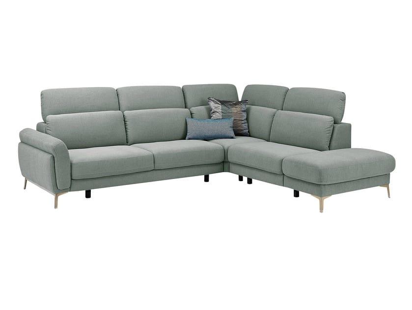 Corner fabric sofa with headrest MEDA | Corner sofa - GAUTIER FRANCE
