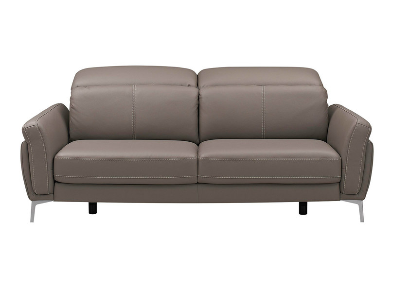 Upholstered leather sofa with headrest MEDA | Sofa - GAUTIER FRANCE