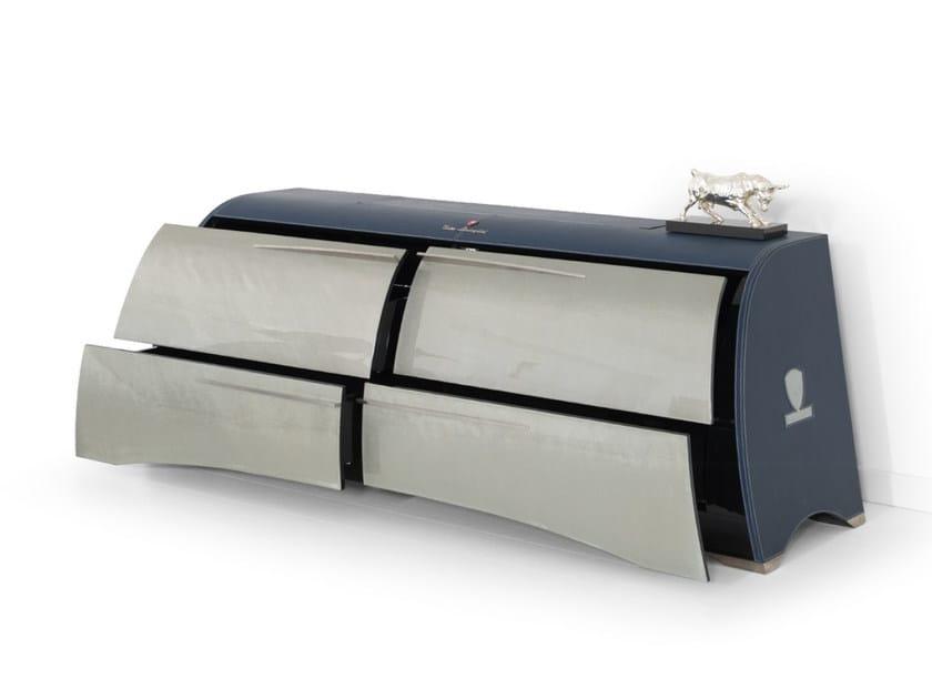 Mobile ufficio in pelle per supporti audiovisivi PERFORMANCE   Mobile ufficio per supporti audiovisivi - Tonino Lamborghini Casa