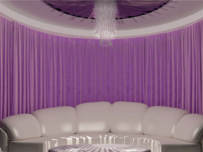 Solid-color fabric curtain MEETING - Arquati Service